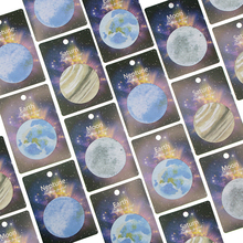 1pcs 30 Sheets Korean Cute Lonely Planet Earth Moon Neptune Sedna Stickers Round Shape Memo Pad Sticky Notes Bookmarks(China)