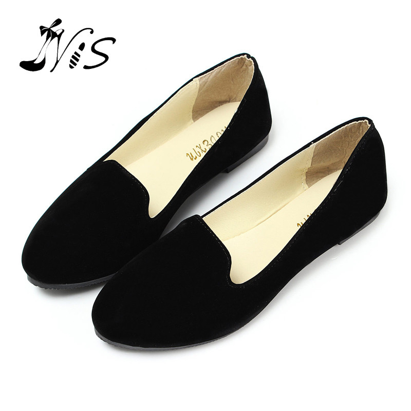 Hot Ladies Suede Leather Ballerina Dolly Womens Flats Ballet Shoes Loafers Princess Shoes Outsole Comfortable Wholesale<br>