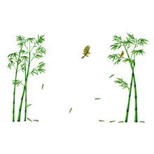 Green Bamboo Forest Depths Removable Wall Sticker Creative Chinese Style DIY Tree Home Decor Decals for Living Room Decoration