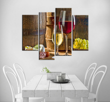 Modular Wall Paintings Barrels Wine Glass Custom Print Poster Oil Painting for Kitchen Dinning Room Home Wall Art Decor
