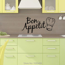 Exclusive Direct wall sticker Home Furnishing decorative Bon Kitchen chef hat PVC wallpaper children room 4147