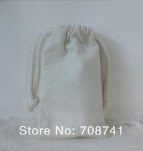 Free Shipping,100pcs/lot,8X13cm,Plain Nature Small Cotton Drawstring Bags Wholesale,Cotton Pouch Factory,Custom Size Logo Accept