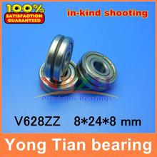 Outer ring with V-groove straightener guide wheel bearings V628ZZ 8 * 24 * 8 mm grooved pulley bearings