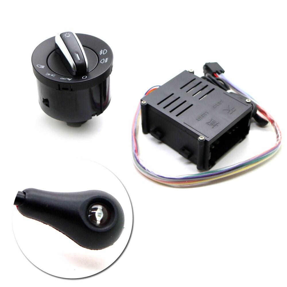 Auto Headlight Head Light Sensor + Switch Button Knob For VW Volkswagen Golf 4 VW Polo New Bora Lavida<br><br>Aliexpress