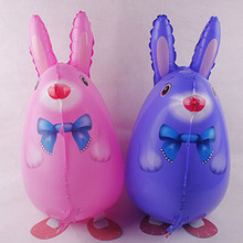 1Pcs/Lot Cute Rabbit Helium Walking Balloon Baby Shower Balloon Animal Party/Birthday/Wedding Decorations Toy Gift(China)