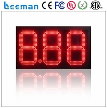 leeman outdoor waterproof led oil price signs high attractive LED digital gas price signe for Gas Station and Petrol Station