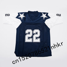Retro star #22 Emmitt Smith Embroidered Name&Number Throwback Football Jersey(China)