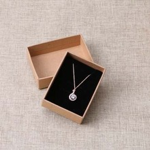 2016 New Kraft Necklace Box High Quality 30pcs/Lot (Custom Logo Cost Extra MOQ : 1000 PCS )(China)