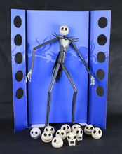 Hot Classic Animation Movie  Tim Burton The Nightmare Before Christmas Jack Skellington 12 Face 35CM  NECA Action Figure