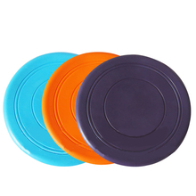 3pcs Pet supplies rubber large and small dogs training silicone toys round soft tpr resistant bite frisbee 250159