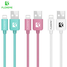 FLOVEME USB Cable For Apple iPhone 5 5S 6 6S 7 Plus 5V/2.1A 1M Data Charger Lighting USB Cable Data Line For iPod iPad Air IOS(China)
