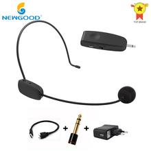 2.4G Wireless Microphone Speech Headset Megaphone Radio Mic For Loudspeaker Teaching Meeting Tour Guide Microfones(China)