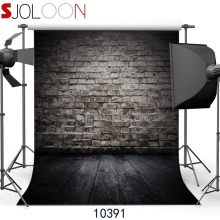 SJOLOON retro brick wall and wood floor photography background for baby photography background fond photo studio prop thin vinyl