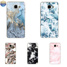 Phone Case For Samsung Galaxy A7 (2017) For A7 2015 Cover For A7 2016 Shell For A700 A710 A720 TPU Marble Lines Design Painted