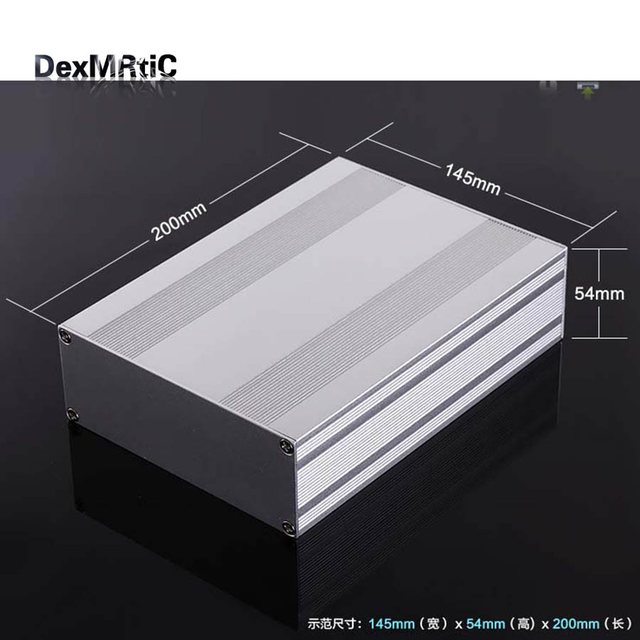 Aluminum enclosure electrical box PCB shell 145(5.7)X54(2.12)X200(7.87)mm DIY NEW Separate type<br>