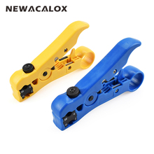 NEWACALOX Automatic Cable Wire Stripper Electric Stripping Tools for UTP/STP RG59 RG6 RG7 RG11 Multi-functional Cutter Striper(China)
