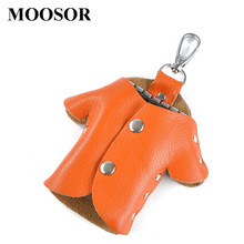 New 100% Genuine Leather Creative Lovely Key Holder Solid Key Wallets Bag Car Housekeeper Holders Key Organizer DC52