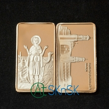 2pcs/lot Hot sale religious commemorative coins collectibles christ medal home decoration coptic church gold bullion bars gift