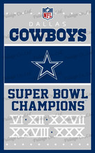 Dallas Cowboys NFL Flag hot sell goods 90x150cm Sport Outdoor Flag High Quality Banner brass metal holes