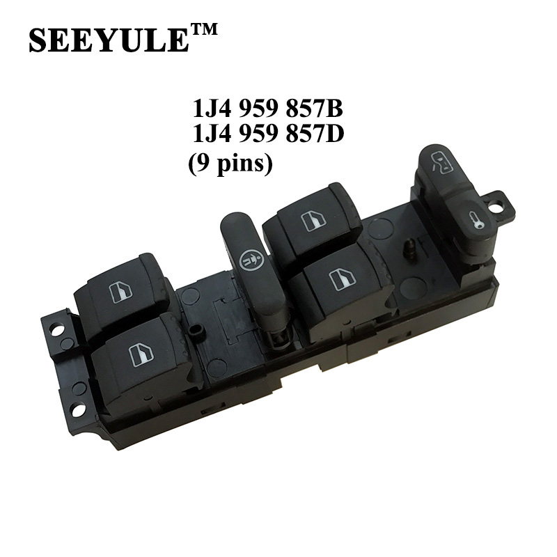 1pc SEEYULE 1J4 959 857D 857B Car Power Window Control Switch for VW Passat Bora Golf MK4 MK5 97-09 for Seat Leon Toledo 99-12(China)