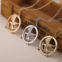 high quality the hunger games necklace bird vintage retro 4cm big pendant for men and women wholesale