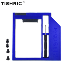 "TISHRIC Universal Plastic Optibay 2nd HDD Caddy 9.5mm SATA 3.0 for 9/9.5mm 2.5"" SSD Adapter CD DVD HDD Case Enclosure"