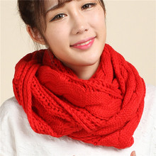 Winter Cable Knitted Infinity Scarf Unisex Lovers Couples Ring Snood Scarves Warm Knitting Round Circle Scarf Wraps HO988829