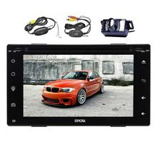 Double Din Capacitive screen Double two 2 Din Car Audio GPS Navigation+Automotive PC Head Unit Stereo Car GPS radio DVD Player(China)