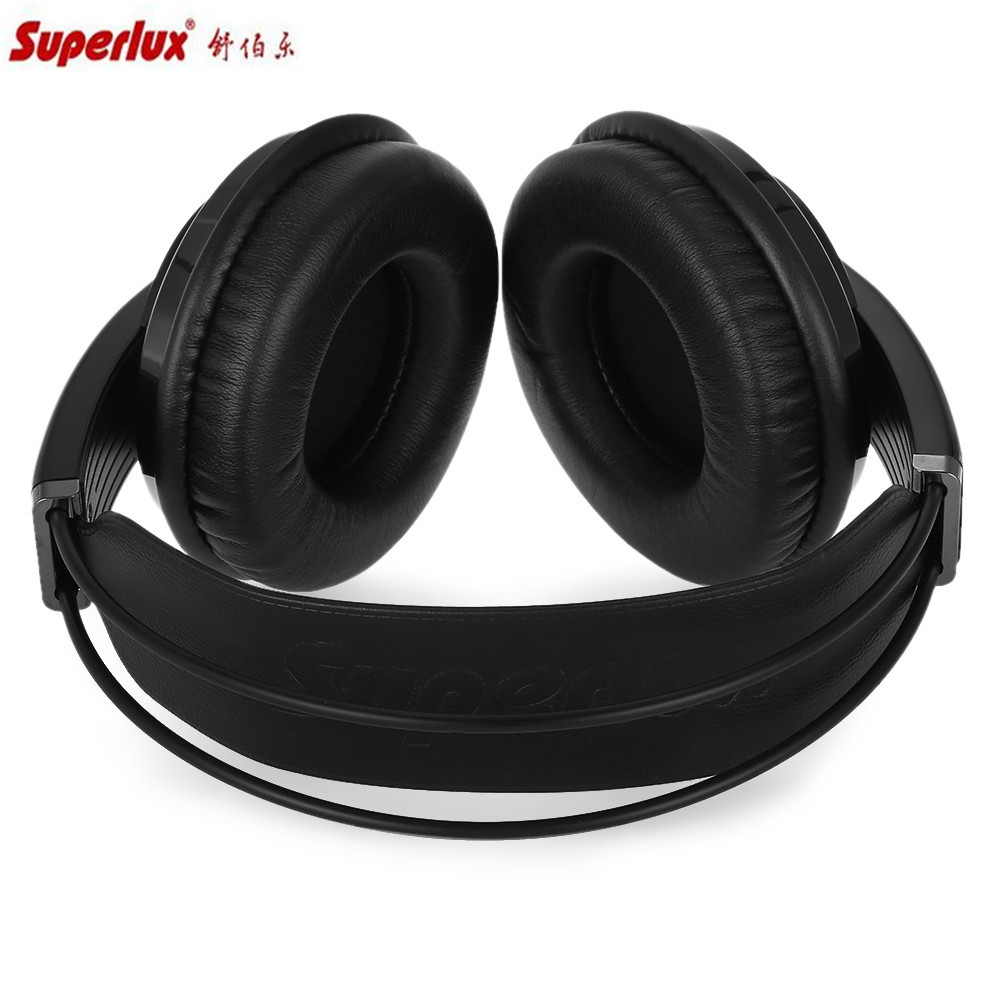 Superlux Headphone Hd681evo Dynamic Semi Open Audio Monitoring Ems Adjustable Headband Green Gold For Baby Earmuff Package Contents 1 X Headset 1m Cable 3m 63mm Adapter 2 Earmuffs Storage Pouch