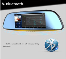 "6.86"" Android 4.4 Car Rear View Mirror Navi GPS +1080P DVR + Wifi +Bluetooth+Camera"