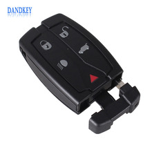 Dandkey Replacement 5 Button Remote Key Shell Uncut Blade Fob Case Fit For Land Rover Freelander 2 3 Free Shipping