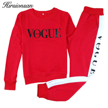 Hirsionsan 2017 Autumn Winter Costumes Women Two Piece Set Vogue Sportswear Suit Casual Tracksuit Long Sleeve Sporting Outfit