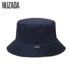 NUZADA 2017 Sunscreen Men Women Bucket Hat Caps Summer Autumn Solid Color Fisherman Panama High Quality Cotton Simple Hats(China)