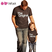 chifuna New 2017 Family Look Father Mother Daughter Son Top Tees Family T-shirts Casual Letter Printed Family Matching Outfits(China)