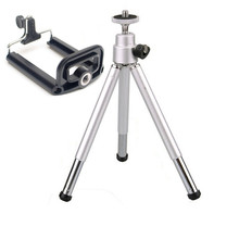 Mini Tripod Professional Flexible Tripod Camera Stand Bracket Tripe Monopod Cellphone Holder Clip For Iphone Samsung Galaxy