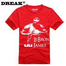 DUZJIAN 2017 new Cavalier LeBron James Men's cotton T-shirt child bodybuilding t-shirt custom bodybuilding jersey college jersey(China)