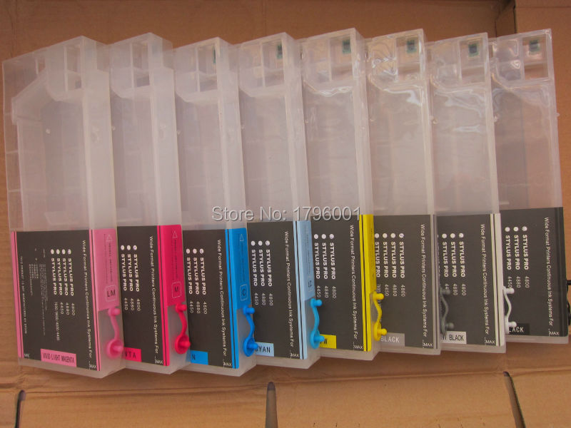 Compatible ink cartridge with chip Refillable cartridge for Epson Stylus Pro 4800  wide format printer<br><br>Aliexpress