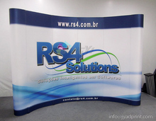 Quality Trade Show Combo (a 3X4 POP up backdrop + two 100X200CM roll up banner + a POP up table display