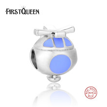 FirstQueen High Polishing Silver 925 Helicopter Charms Beads Fits Most Popular Bracelets Bangles Fine Silver Jewelry(China)