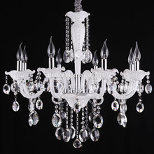 6 8 Arms Crystal Lighting Chandeliers White Modern Crystal chandelier Living Room Lights Bedroom lamp Chandelier Light