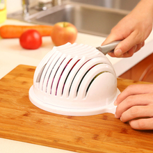 Multifunctional PVC Bowl Tools White Salad Bowl In 60 Second Maker Healthy Fresh Salads Made Easy Salad Cutter(China)