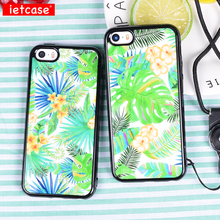IETCASE Luxury Brand Summer Holiday Telephone Case for iPhone 5 5s SE Soft Silicon TPU Grip Cover Mobile Phone Shell Girls Gift