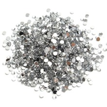 New 1000pcs 2mm Crystal Rhinestones Silver Color Nail Art Design Decorations Sticker Nail Rhinestones For Nails Manicure Sets