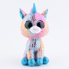 Ty Beanie Boos Plush Toy Doll For Children Colorful Unicorn