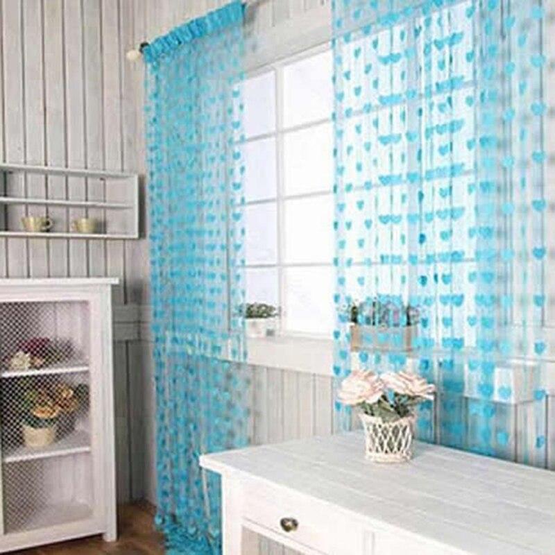 cute heart line tassel string curtain blinds lovely window room divider tassel line curtains indoor upscale decor fabrics