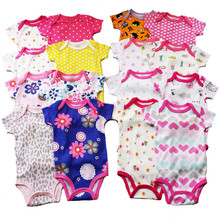 Baby Cartoon Clothes for girl & boy Short Sleeve vestido Infant Jumpsuit 5 design Bodysuits Printing and embroidery baby body