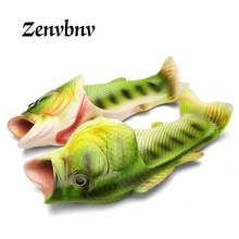 ZENVBNV New Arrival Personality Fish Design Summer Men Sandals Lightweight Beach Slippers Couple Flip Flops EVA Sole Size 34-45(China)