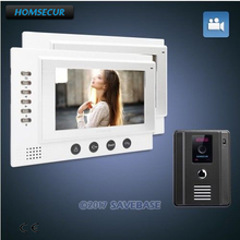 "HOMSECUR 1v2 Hand-free 7"" Video Door Entry Security Intercom+IR Night Vision for Apartment(China)"