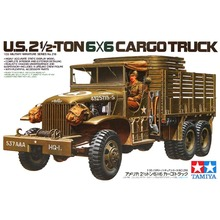OHS Tamiya 35218 1/35 US 2.5 Ton 6x6 Cargo Truck Military AFV Assembly Model Building Kits(China)