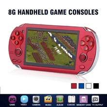 Game Console 4.3 Inch 8GB Handheld Portable Video Game Player Build in 2000 Games Support For PSP Game Camera Video E-book(China)
